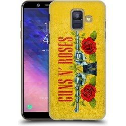 1f182d73c Pouzdro HEAD CASE Samsung Galaxy A6 2018 hudební skupina Guns N Roses  pistole a růže žluté