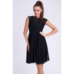 e5b1b122930 EMAMODA krátké společenské šaty s krajkovým vrškem černá od 1 449 Kč ...