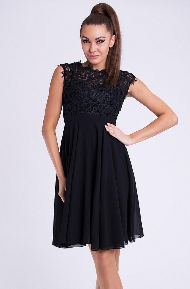bce395a3932 EMAMODA krátké společenské šaty s krajkovým vrškem černá od 1 449 Kč -  Heureka.cz