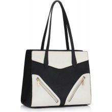 557689b211d LS Fashion dámská kabelka se zipy LS00405 bílá