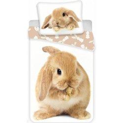 Jerry Fabrics Povlečení fototisk Bunny brown 140x200 70x90