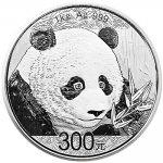 Panda Stříbrná mince 300 Yuan 1 kg 2018 PROOF číslováno