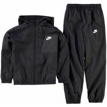 Nike Winger Tracksuit Junior Boys Black Grey