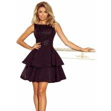d27222cf7586 Dámské šaty s krajkovým dekoltem bez rukávů s dvojitou sukní černá