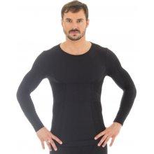 Brubeck Comfort Wool Mens LS11600 Black pánské triko dl.rukáv