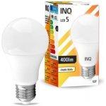 INQ LED žárovka E27 5W A60 Teplá bílá