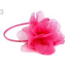 Saténová čelenka do vlasů s květem 1ks - 33 Kč   ks 3 růžová malinová 1ce433b079