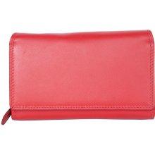 Luxusní červená kožená peněženka HMT