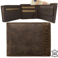 Harold's peněženka pánská kožená hnědá F11821-braun