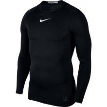 Nike Pro Top s dlouhým rukávem ČERNÁ