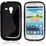 Pouzdro Mobilnet zadní silikon Samsung Galaxy S3 mini černé