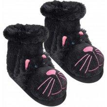 Dámské ponožkové bačkory kočky černé