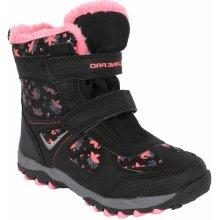ef268fa6f40 ALPINE PRO Dívčí zimní boty Wano - černo-růžové