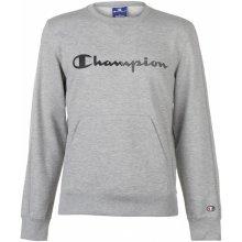 Champion Crew Logo Sweater Grey Marl
