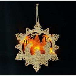 Small foot by Legler Vánoční dekorace - Lampa Jesličky ve hvězdě