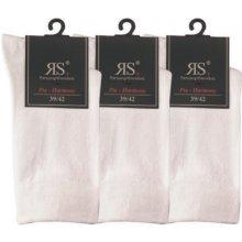 dámské bavlněné ponožky bez gumiček RS bílá