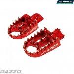 Duralové stupačky APICO Extreme Footpegs Suzuki RMZ250 / RMZ450 Red
