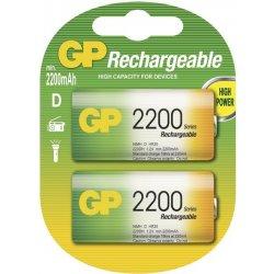 Baterie GP 2200mAh D 2ks