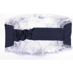 Ledvinový pás kožešinový - králík velikost 85 - 105 cm stříbrný LP - 2 ec4d46152a