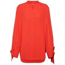 Calvin Klein Halenka  DRAPED CUFF BLOUSE LS  červená 0c5af9555a