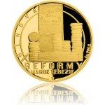 Česká mincovna Zlatá čtvrtuncová mince Reformy Marie Terezie měnová 7,78 g