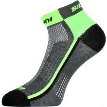 Silvini Cyklistické ponožky Plima UA622 šedá zelená 01115a6504