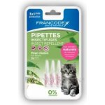 Francodex Pipeta repelentní kočka 4x0,6ml