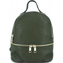 7b59096876d Arteddy dámský dívčí kožený batoh tmavě zelená