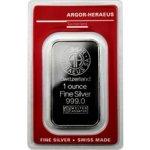 Argor Heraeus 31,1g SA Švýcarsko Investiční stříbrný slitek