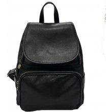 c17b14aaac2 IL Giglio kožený batoh s klopou 222 černý