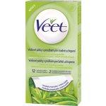 Veet voskové pásky Aloe Vera pro suchou pokožku 12 ks