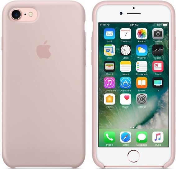 Pouzdro Apple Silikonové iPhone 7 8 pískově růžové 0f2b92ddd68
