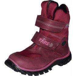 e22a70fda0b Fare 848191 tmavě růžové. Hřejivá dětská zimní obuv ...