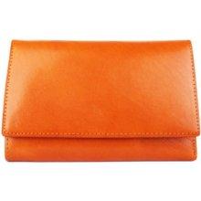 ITALSKÉ Hnědé kožené peněženky H33 camel