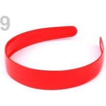 Plastová čelenka 2,5 cm 2. jakost červená 1ks