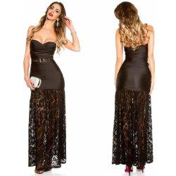 3d740e17b61 Koucla dlouhé večerní bandeau šaty s krajkou černá od 1 029 Kč ...