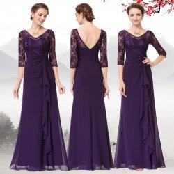 e6816fa74946 Dlouhé společenské šaty s rukávem fialová od 2 200 Kč - Heureka.cz
