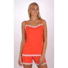 49f60bf6c Vienetta Secret Jasmína dámské pyžamo šortky na ramínka korálová