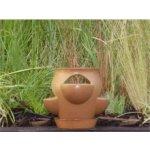 Keramika Litohoř Květináč na bylinky s podmiskou velký světlý - 23 x 15