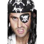 Pirátská záslepka s lebkou