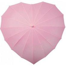 Dámský holový deštník srdce HEART sv.růžový