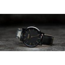 Nixon Porter Leather All Black/ Gold