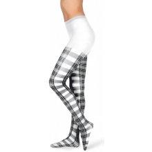94091d2fa29 EVONA Dámské punčochové kalhoty TARTAN bílé