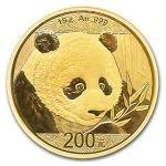 Panda 2018 Zlatá mince 15 g