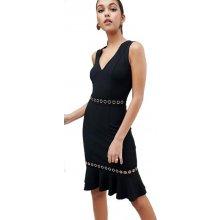 60bfa7ae95b Lipsy šaty na tělo s volánem grommet černá