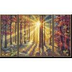 Podzimní les 50x80 cm