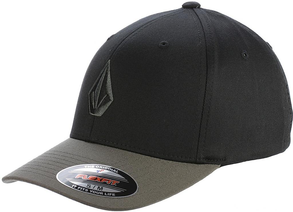 Volcom Kšiltovka Full Stone Xfit Black Grey černá alternativy - Heureka.cz 427e5aa40a