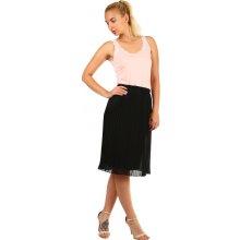 Glara plisovaná skládaná sukně černá 6d7bdab8ac