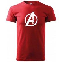 Bezvatriko.cz 0287 Pánské tričko s motivem Avengers Červená