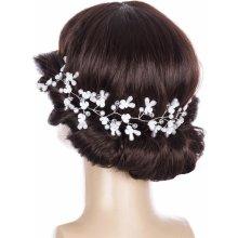 Fashion Icon Svatební ozdoba do vlasů - čelenka Wedding day větvička s  perly a krystalky CV0116 0dfde23459
